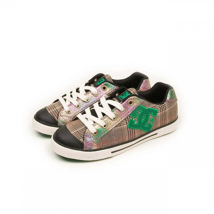 купить Кеды DC Shoes Chelsea W'S Black Green в Москве