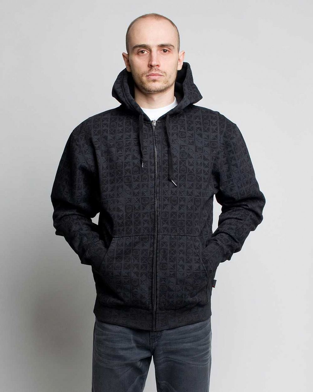 Толстовка Spitfire Ziphood Degenerate Black отзывы