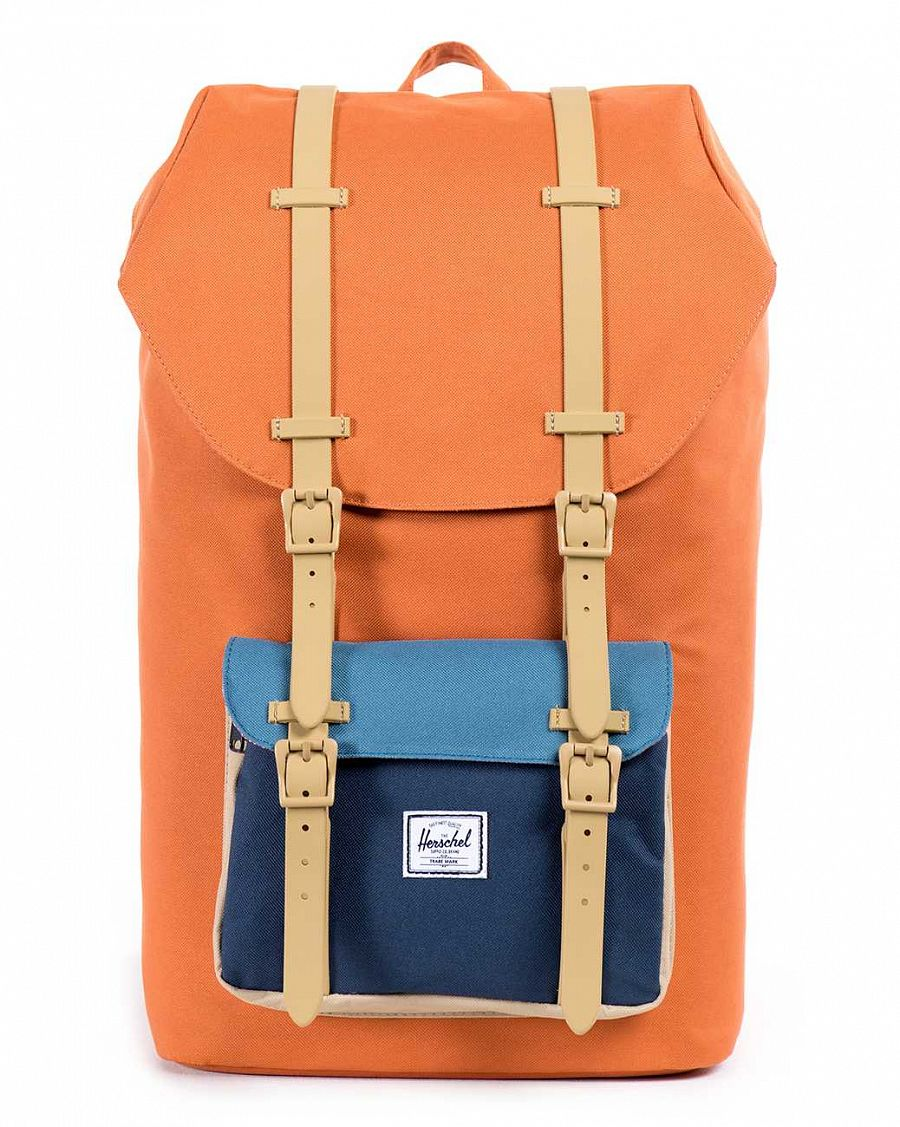 Рюкзак Herschel Little America Carrot Navy Cadet Blue Khaki Rubber отзывы