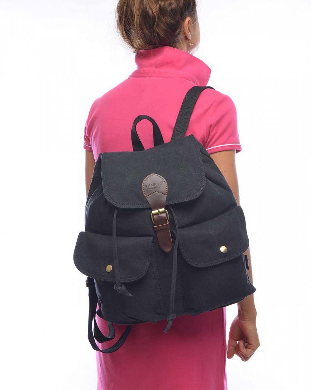 0ef68d851561 Рюкзак женский городской Kaukko Authentic Bags Co.Ltd FJ17 Black отзывы; 2;  2; 2; 2; 2; 2; 2; 2