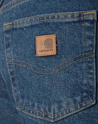 Джинсы классические Carhartt USA B460 DVB Relaxed Fit Straight Leg Jean Dark Blue