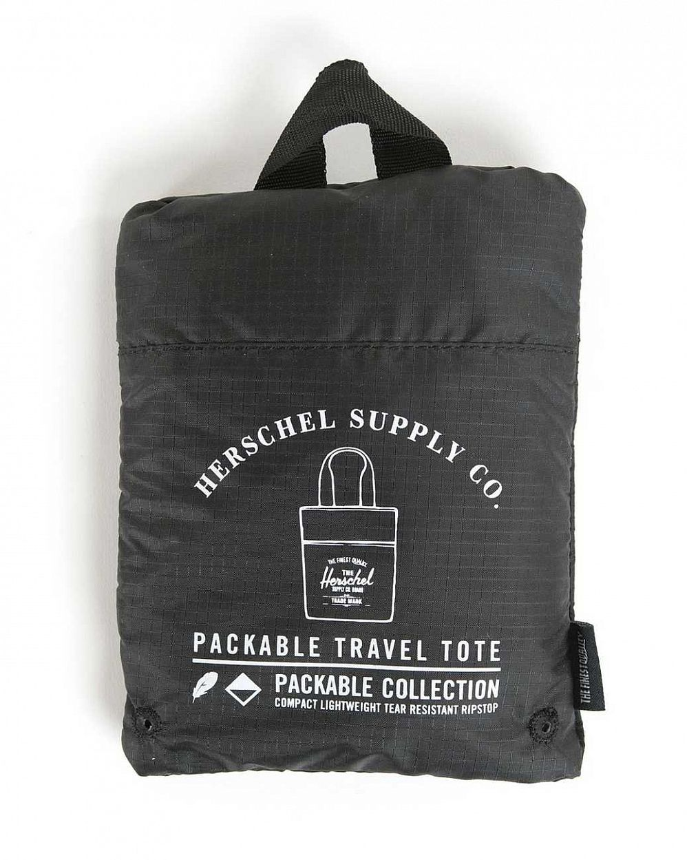 Сумка складная Herschel Packable Travel Tote Bag Black цена в Москве