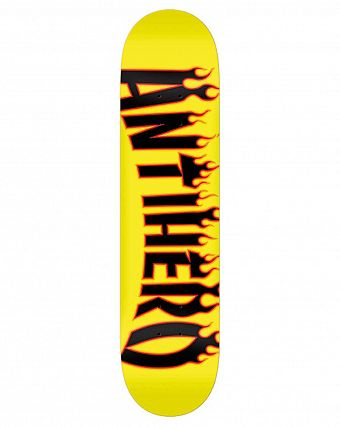 Дека Anti-hero BRD FLAMING SKATE Yellow