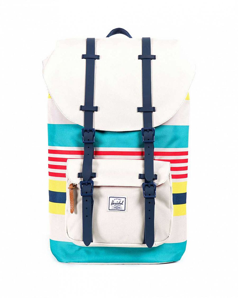купить Рюкзак Herschel Little America Stripe Bone Navy Rubber в Москве