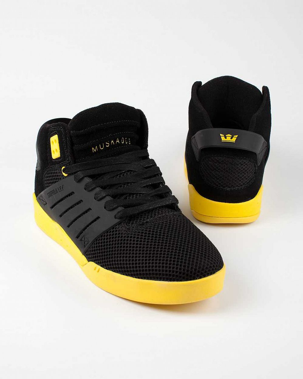 купить Кеды Supra Skytop III black yellow в Москве