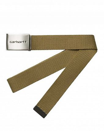 Ремень Carhartt WIP Clip Belt Chrome Hamilton Brown