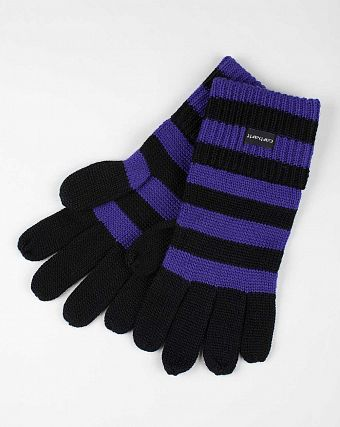 Перчатки женские Carhartt WIP Park Strip Gloves Black Dark Lilac