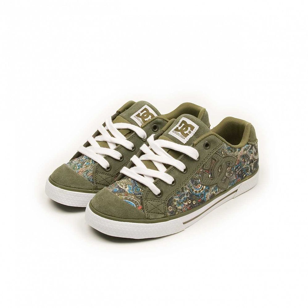 купить Кеды DC Shoes Chelsea W' S Olive Night Turqoise в Москве