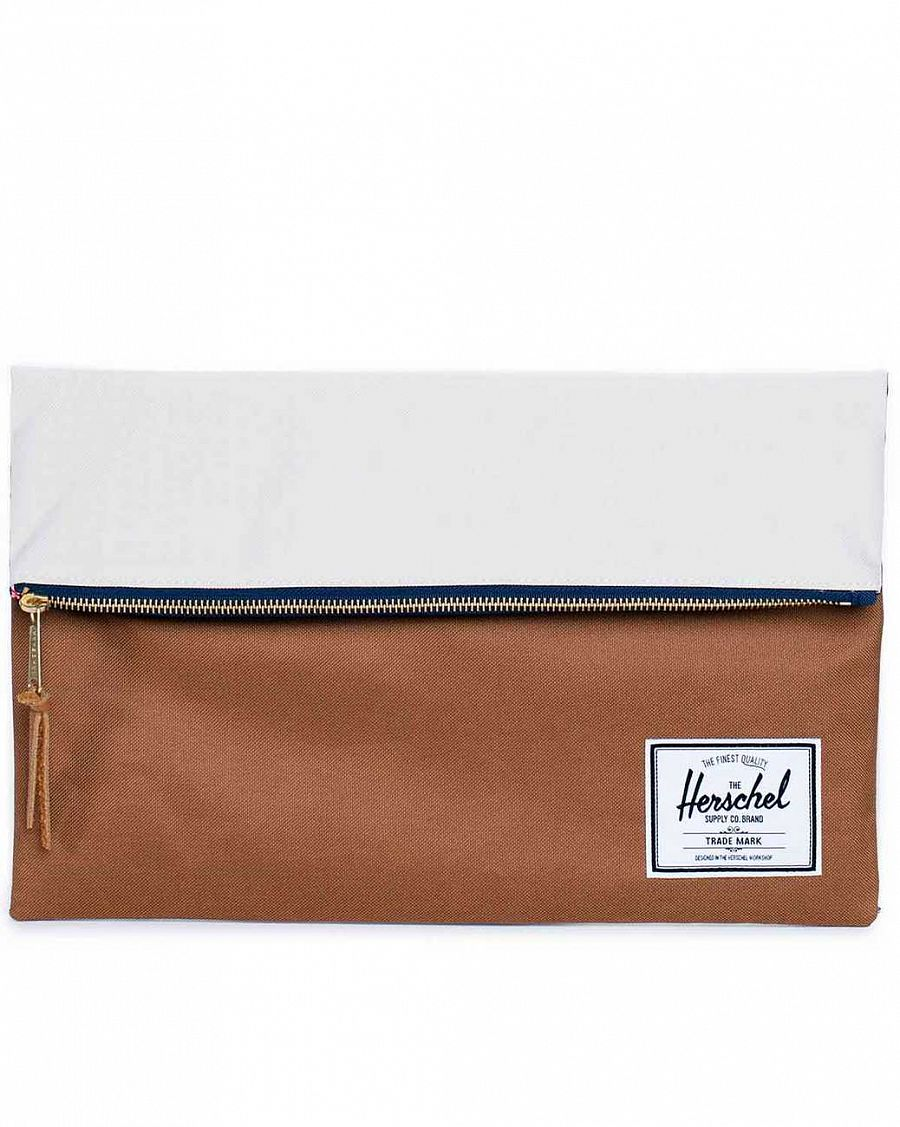 Клатч Herschel Carter Large Caramel Navy Natural отзывы