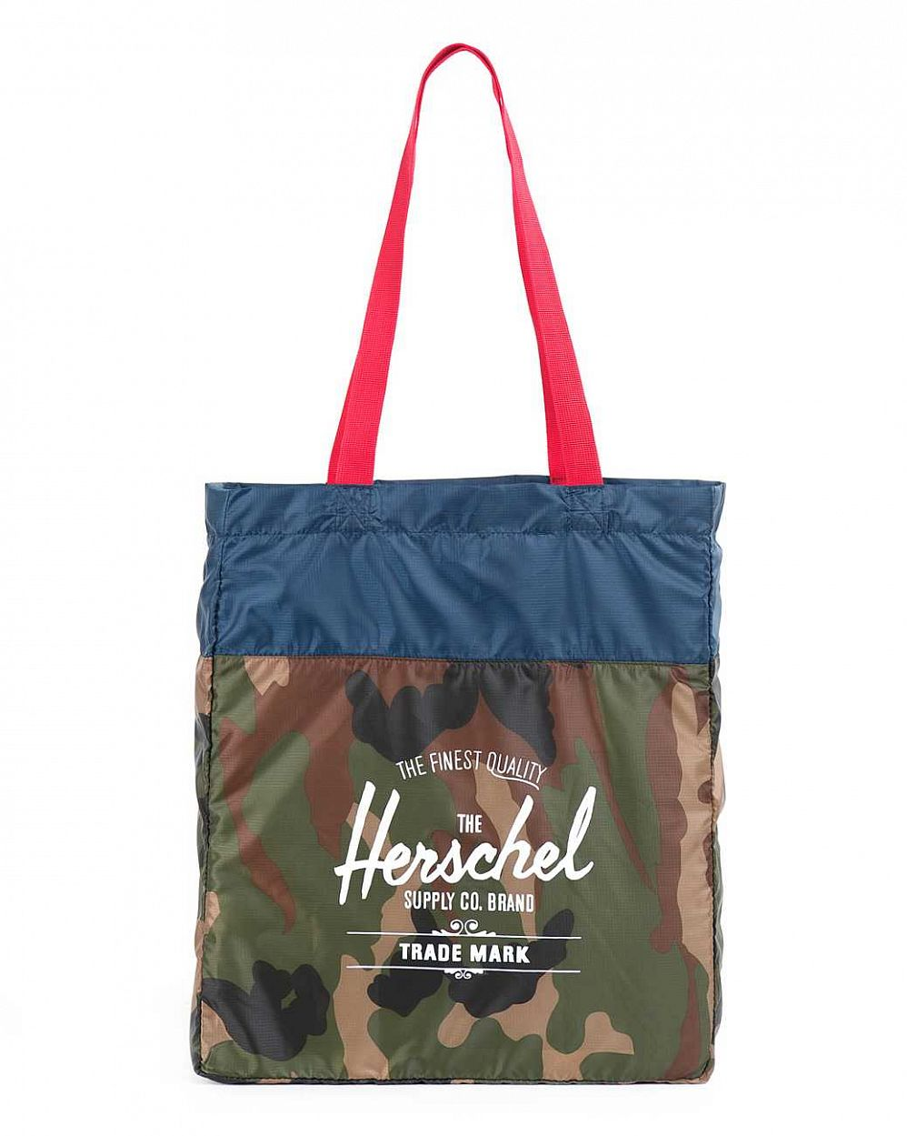 Сумка Herschel Packable Travel Tote Bag Woodland Camo Navy Red отзывы