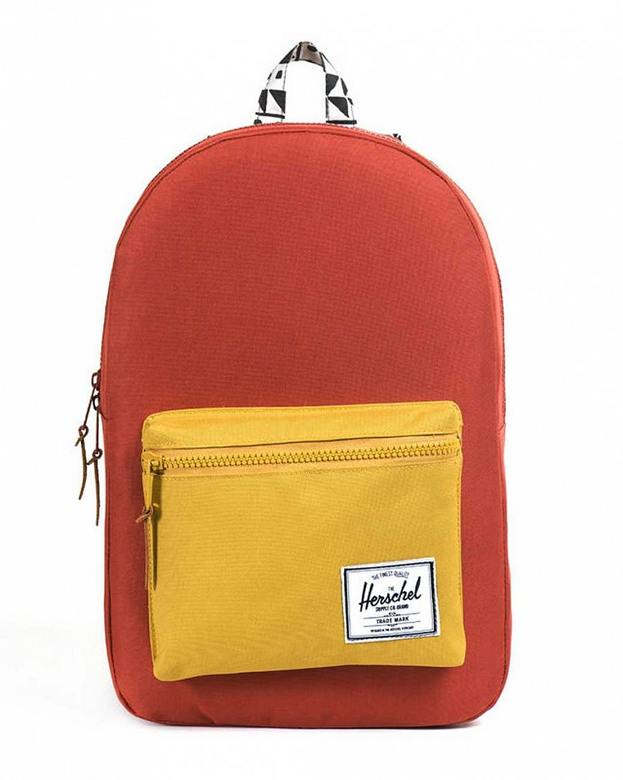 купить Рюкзак Herschel Settlement Plus Rust Butternut Chevron Black  (10006) в Москве