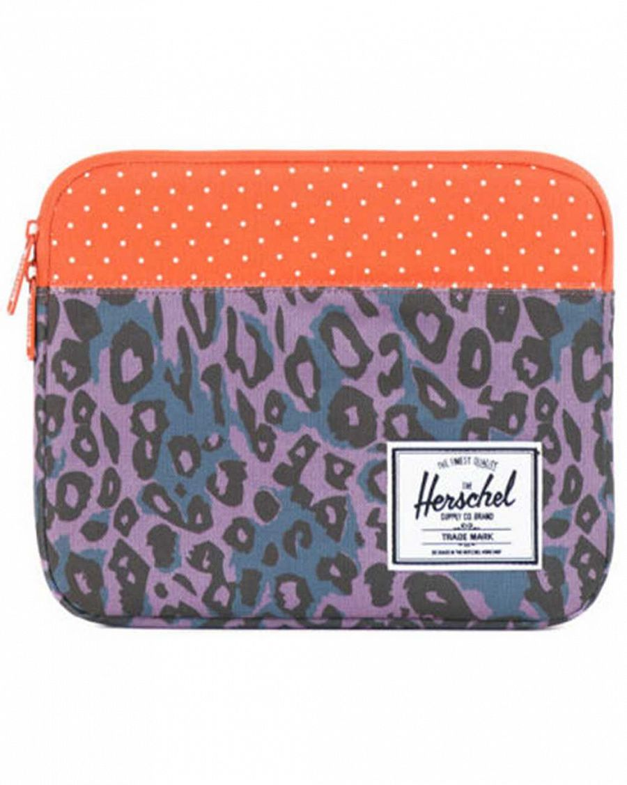 купить Чехол Herschel Anchor Sleeve для iPad Purple Leopard Orange Polka Dot в Москве