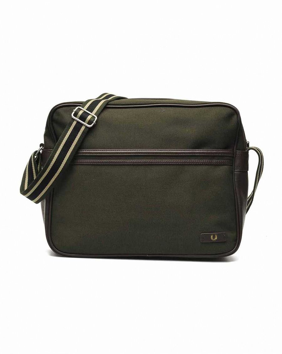 купить Сумка Fred Perry L5209 Classic Canvas Shoulder Bag Hunting Green в Москве