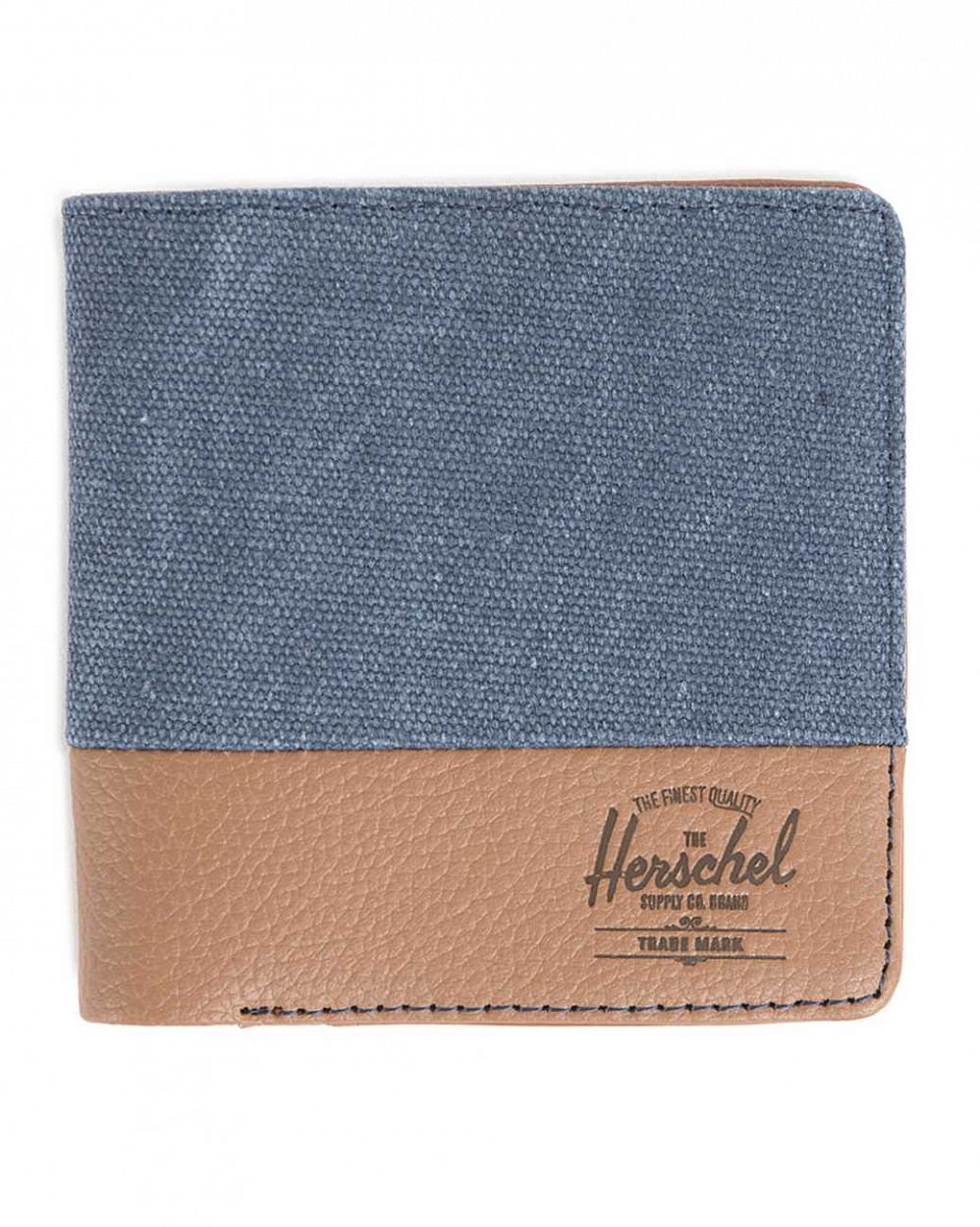 купить Кошелек Herschel Kenny Washed Navy Tan Pebbled Leather в Москве