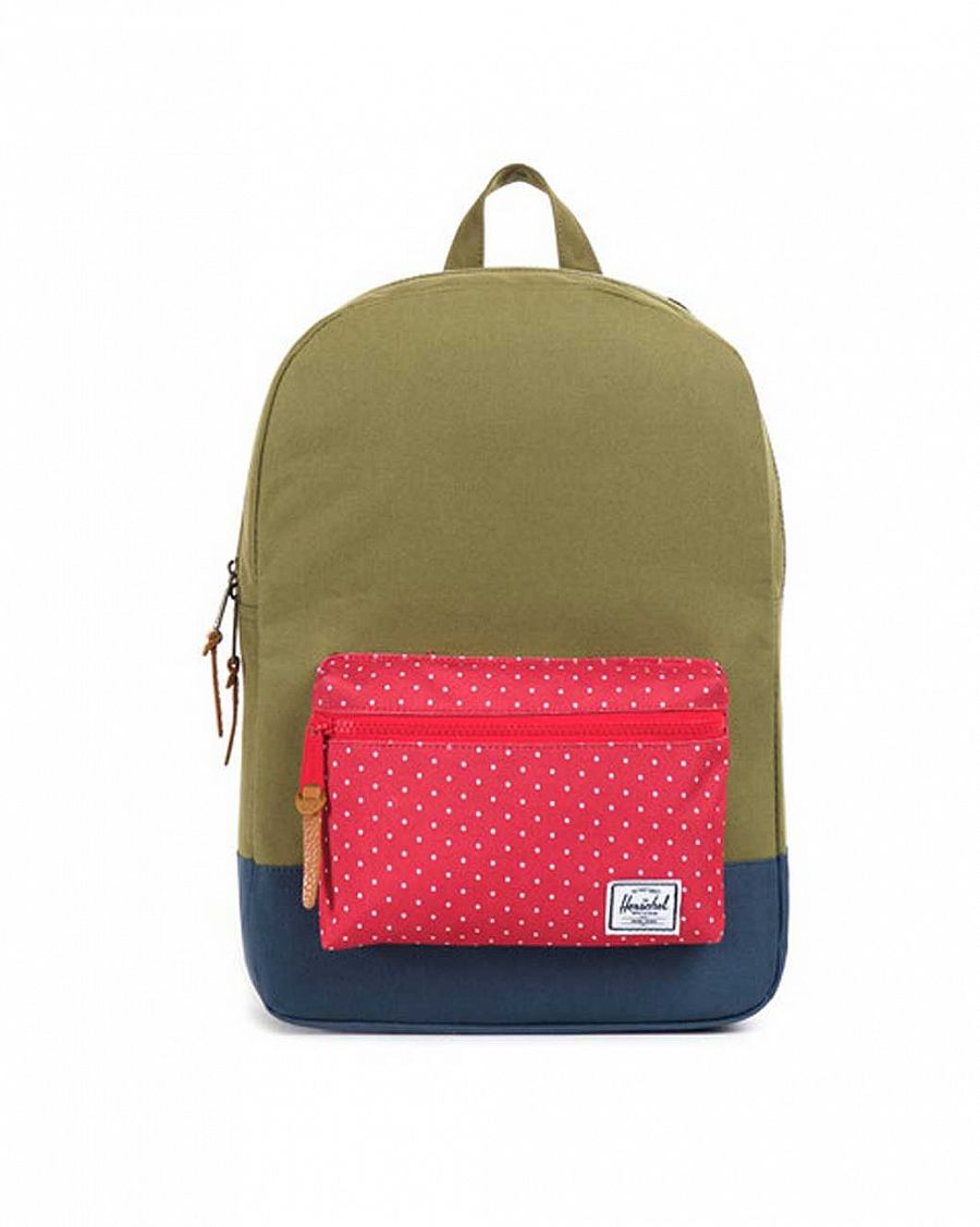 купить Рюкзак Herschel Settlements Youth Army Red Polka Dot Navy в Москве