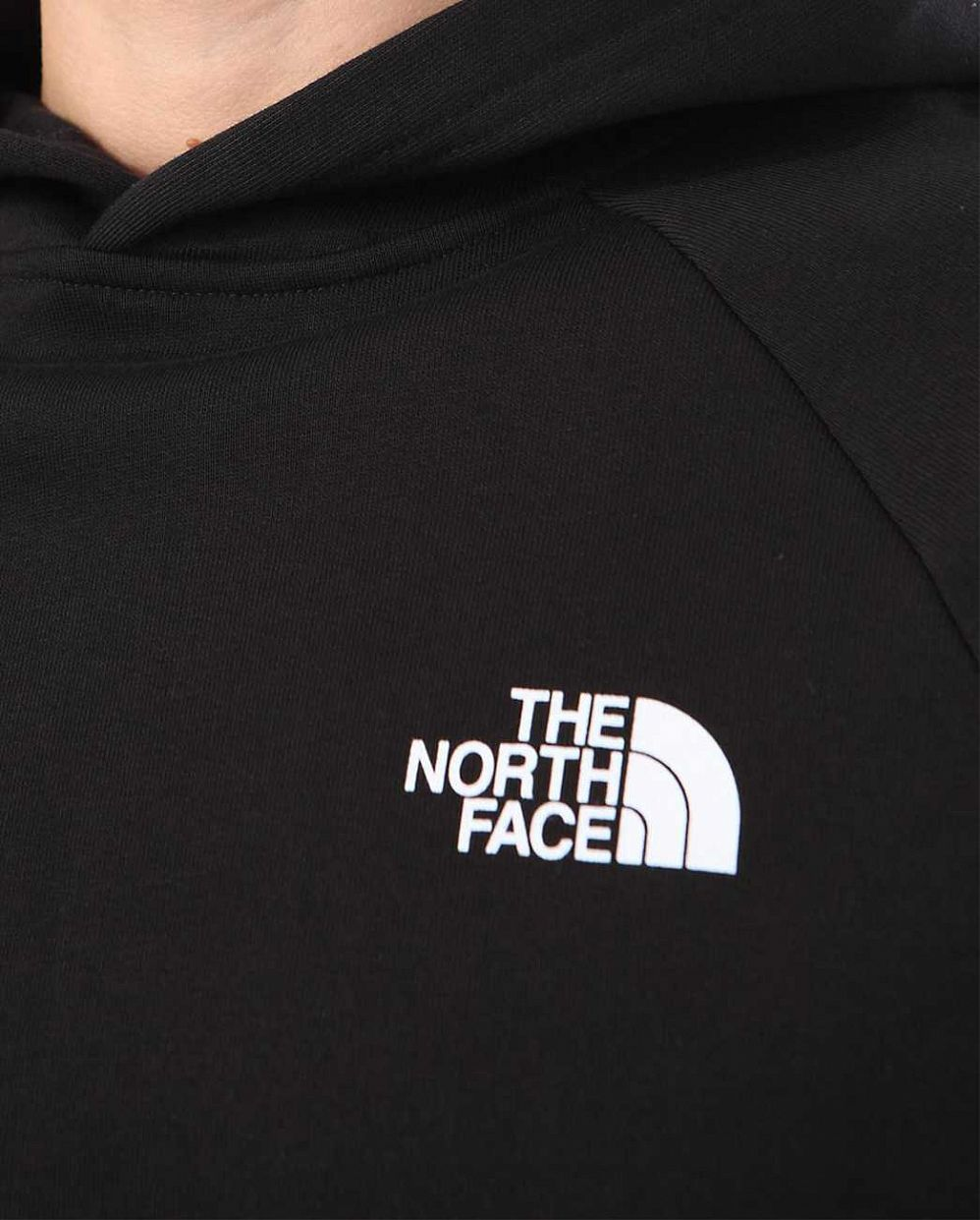 b2e251a40cb Толстовка мужская с капюшоном флисовая The North Face Raglan Red Box Black  отзывы  2  2 ...