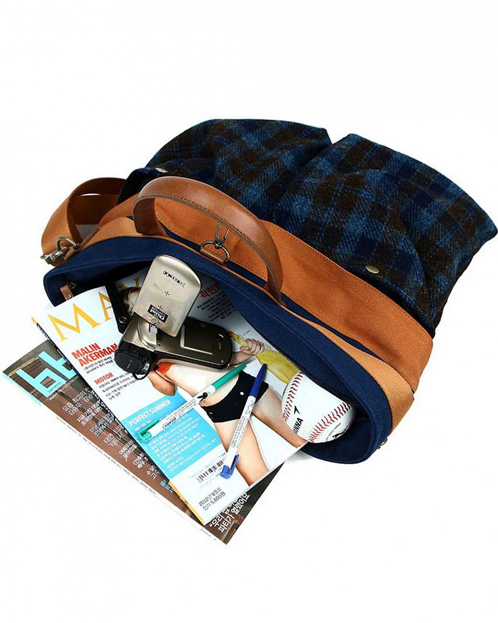 Сумка The earth Company Harris Tweed  (England) Helmet bag blue купить в интернете