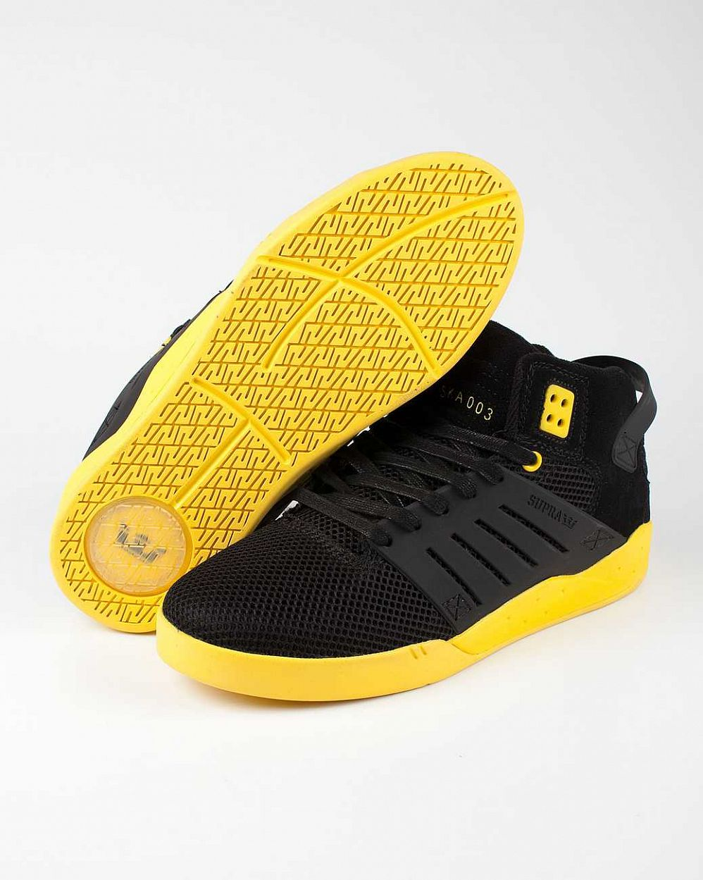 Кеды Supra Skytop III black yellow цена в Москве