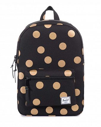 Рюкзак Herschel Settlement Youth Black Gold Polka Dot
