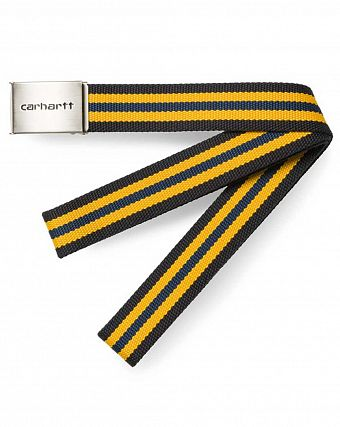 Ремень Carhartt WIP Clip Belt Chrome blue multicolor
