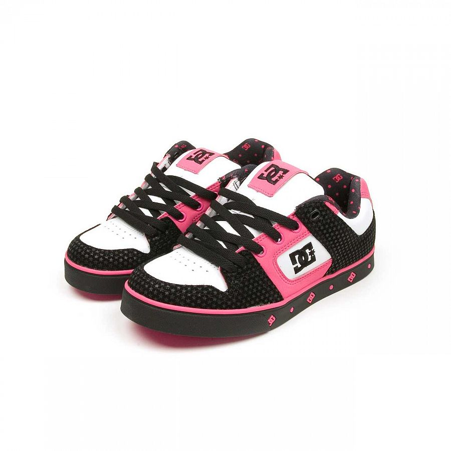 купить Кеды DC Shoes Pure SE Ladies Shoe Blk/crazy Pink в Москве