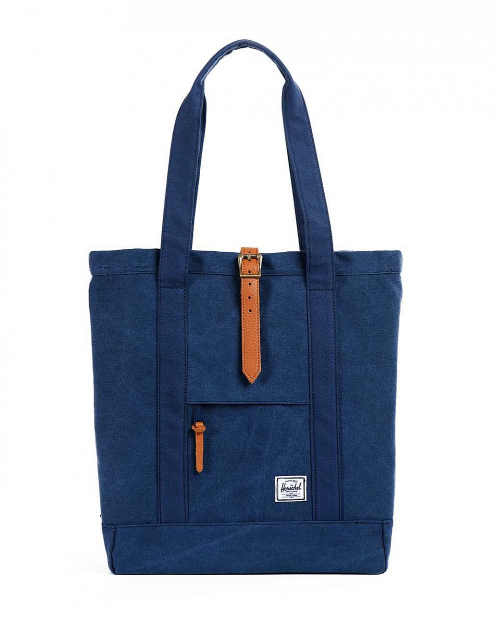 купить Сумка Herschel Market Canvas Washed Navy Navy в Москве
