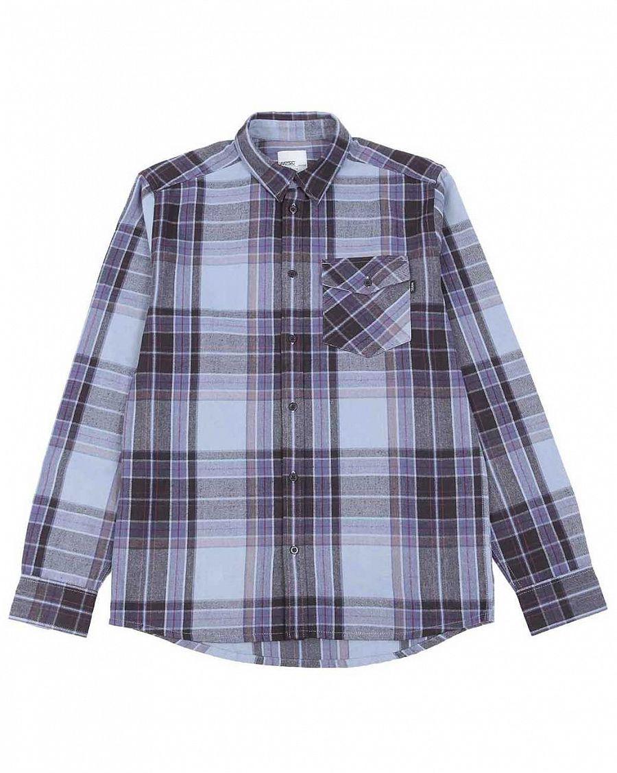 4daa639769f Рубашка мужская фланелевая WeSC Abdon Flint Stone купить в интернет ...