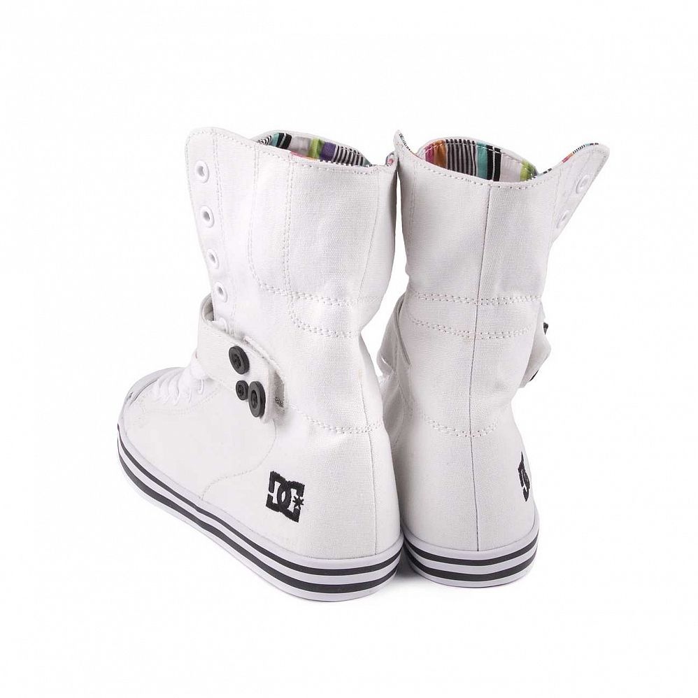 Кеды DC Venice HI Womens Shoe White/black интернет-магазин в Москве