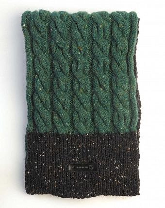 Шарф Stighlorgan Cian Genuine Donegal Wool Cashmere Blend Black Green