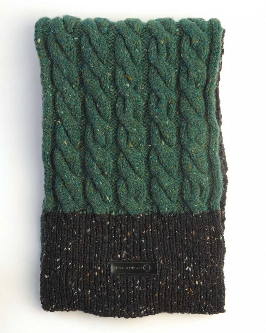 купить Шарф Stighlorgan Cian Genuine Donegal Wool Cashmere Blend Black Green в Москве