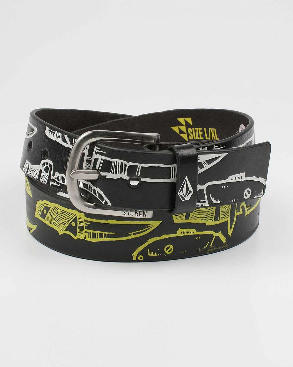 Ремень Volcom Fa M Sieben Leather Belt Black отзывы