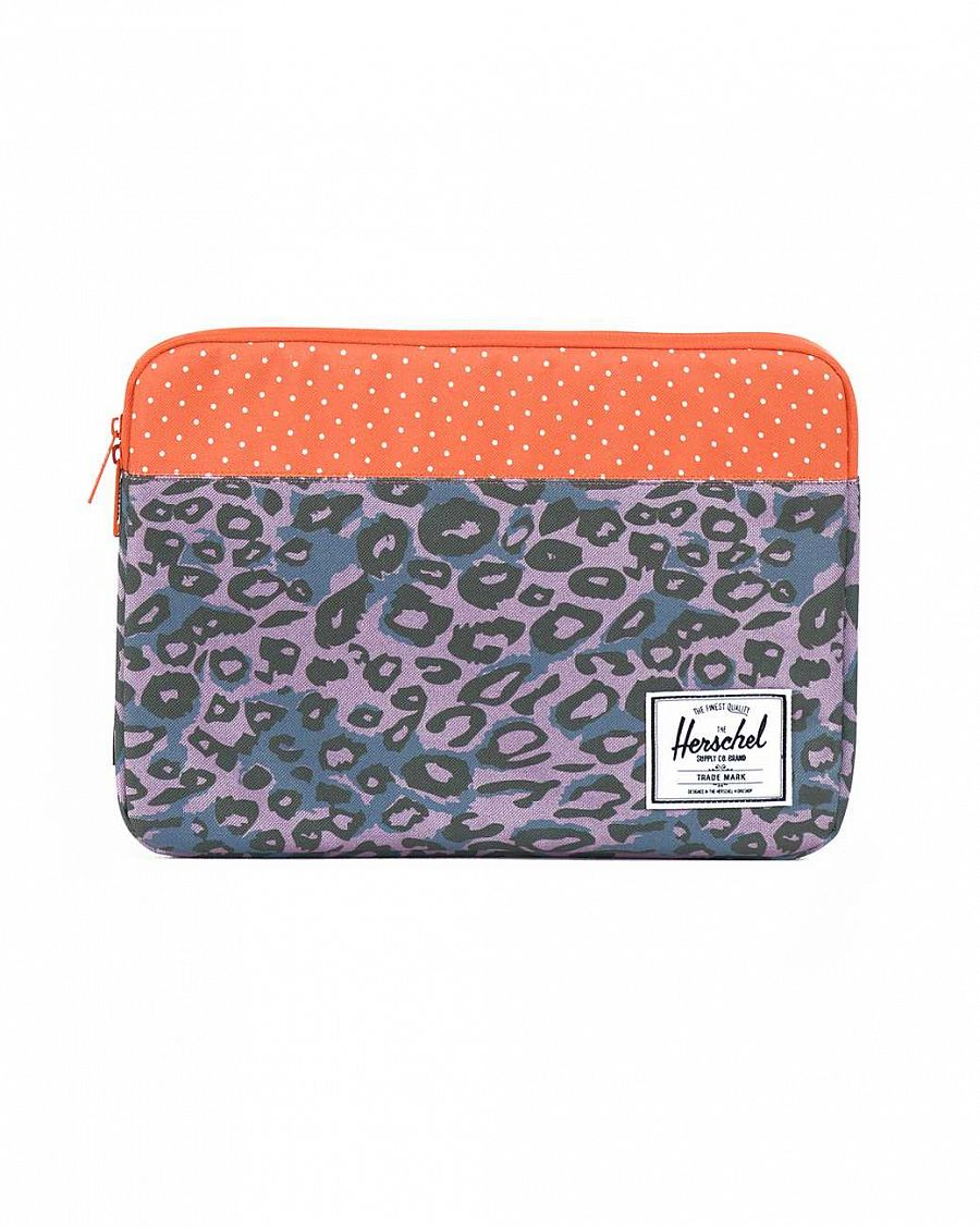 купить Чехол Herschel Anchor Sleeve для 11'' Macbook Purple Leopard Orange Polka Dot в Москве