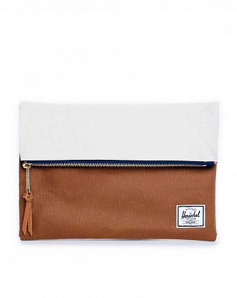 Клатч Herschel Carter Small Caramel Navy Natural