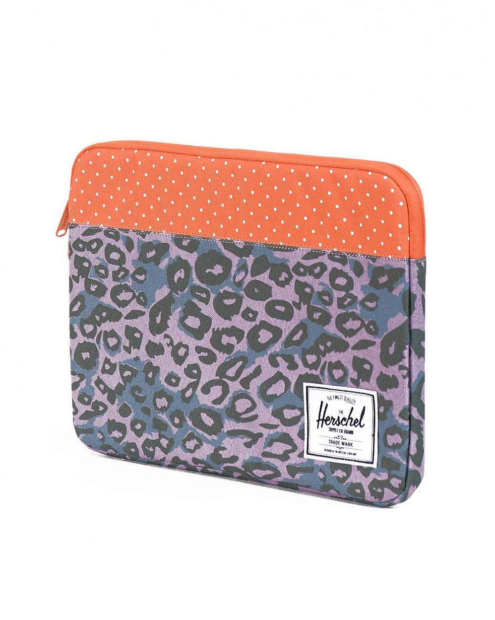 Чехол Herschel Anchor Sleeve для 11'' Macbook Purple Leopard Orange Polka Dot интернет-магазин в Москве