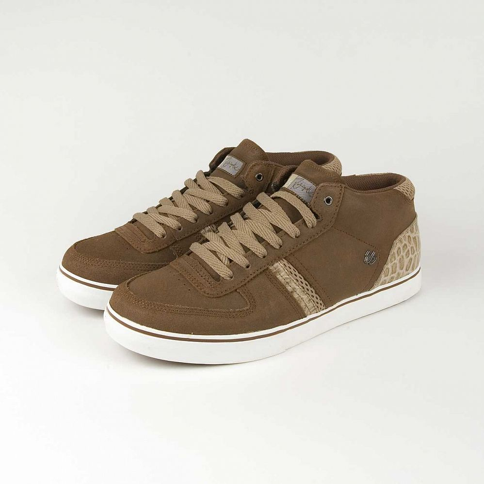 Кеды Es Cassette Mid Brown White отзывы