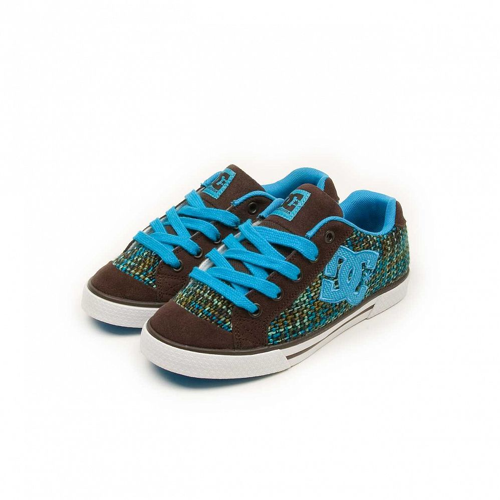 купить Кеды DC Shoes Chelsea W'S Dark Chocolate Turquoise в Москве