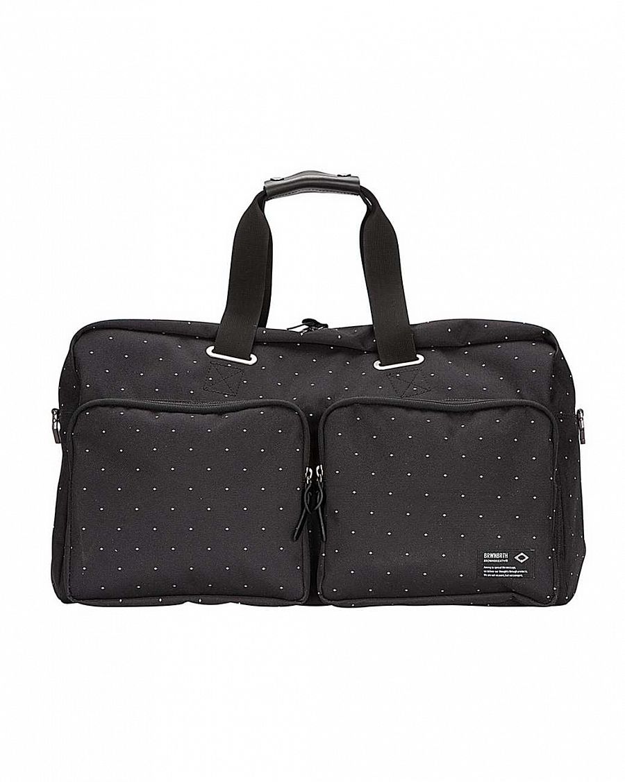 купить Сумка Brownbreath oblique boston bag black dot в Москве
