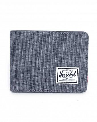 Кошелек Herschel Hank + Coin Charcoal Crosshatch