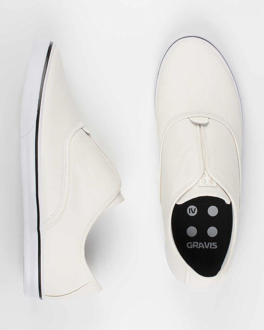 Кеды Gravis Dylan Slip On LX MNS White Wax интернет-магазин в Москве
