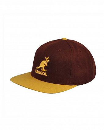 Бейсболка Kangol Championship Links Adjustable Burgandy Mustard