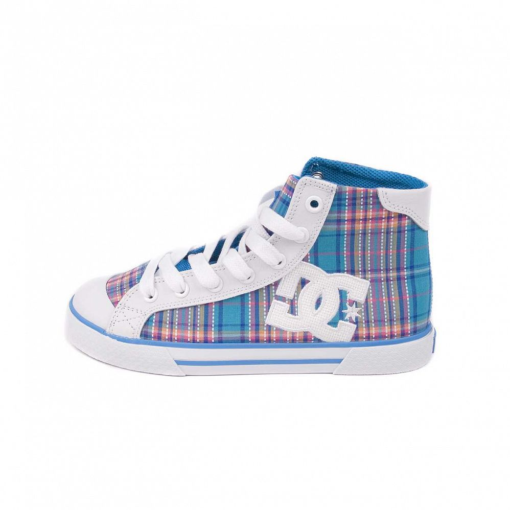 Кеды DC Shoes Chelsea Mid W'S White/turq/wht отзывы