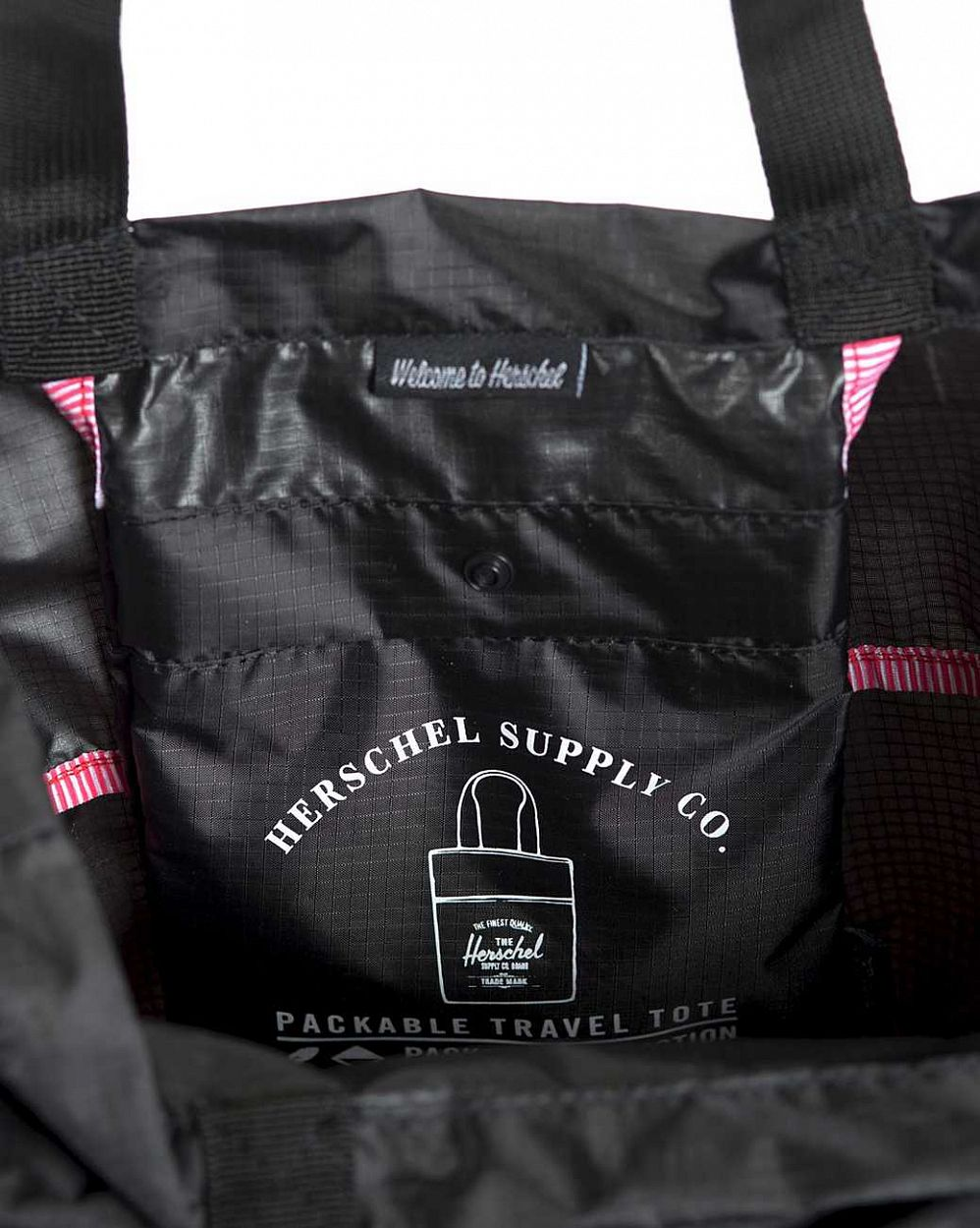 Сумка складная Herschel Packable Travel Tote Bag Black отзывы