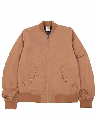 Куртка бомбер Carhartt WIP Adams Jacket Hamiltion Brown