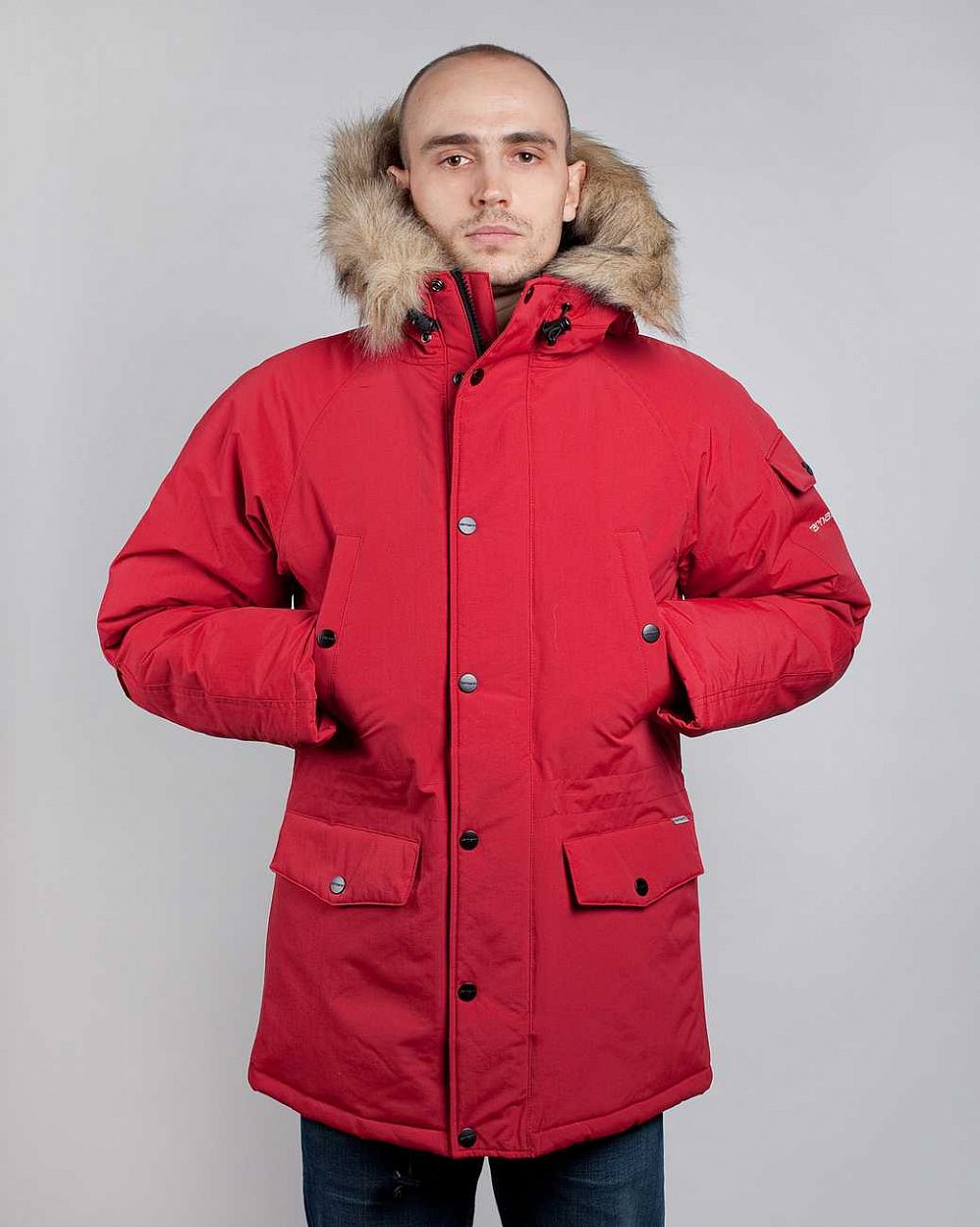 купить Куртка Carhartt WIP Anchorage Parka Jacket Deep Red Brocken White в Москве