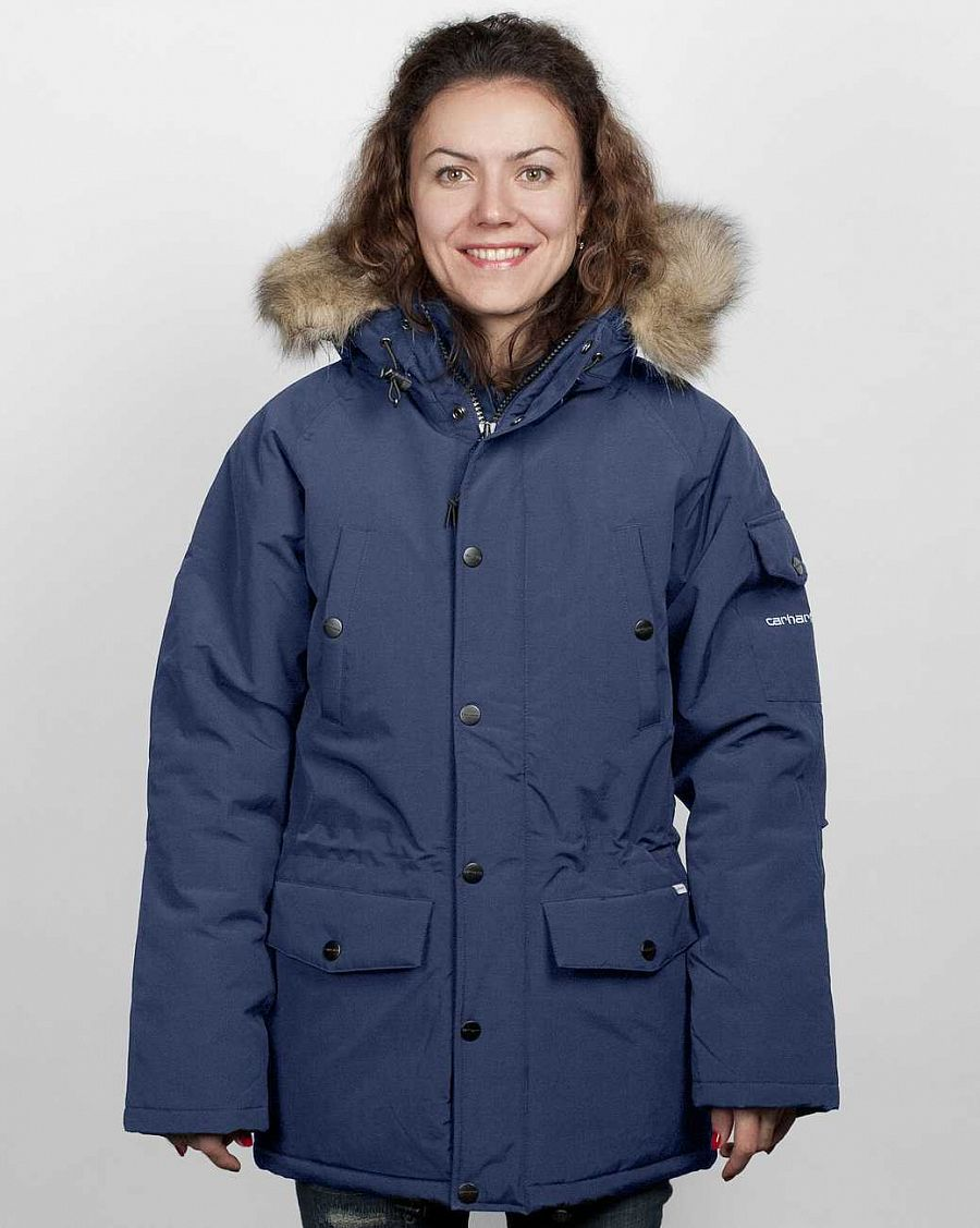купить Куртка Carhartt Anchorage Parka Jacket W'S Navy brocken white в Москве
