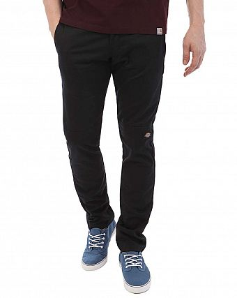 Брюки мужские зауженные Dickies 1922 Skinny Straight Fit Double Knee Work Black