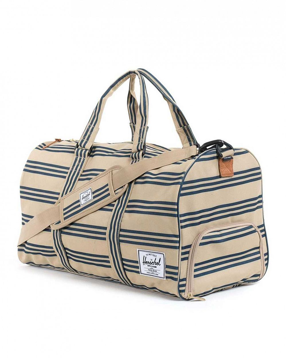 Сумка спортивная Herschel Novel Canvas Navy Khaki Stripe отзывы