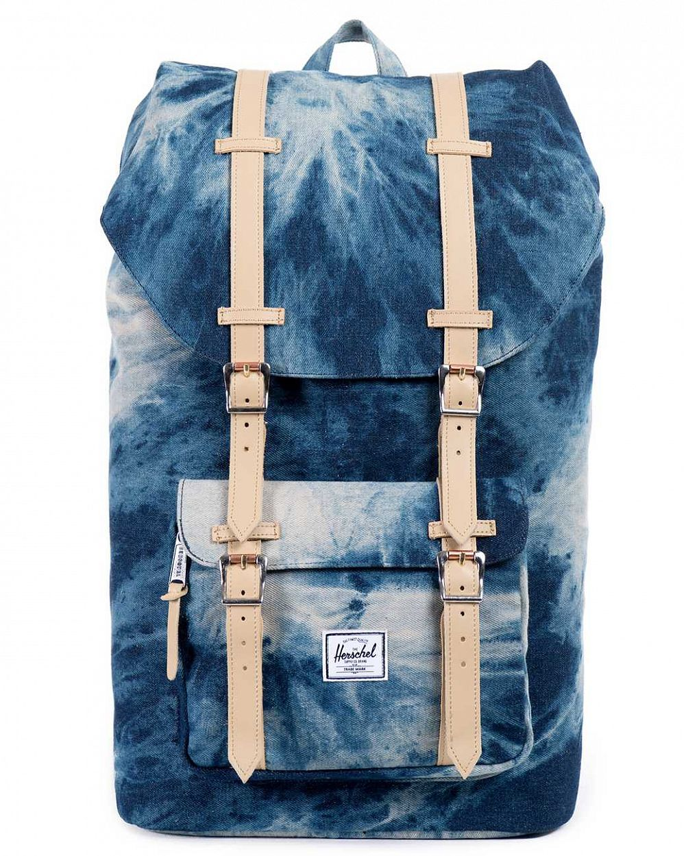 купить Рюкзак Herschel Little America Acid Wash Denim Navy Coated Cotton Canvas в Москве