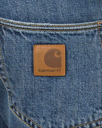 Джинсы узкие Carhartt WIP Klondike Hanford 11,75 oz Blue Stone Washed