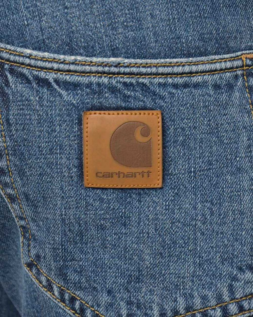 Джинсы узкие Carhartt WIP Klondike Hanford 11,75 oz Blue Stone Washed отзывы